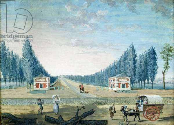 Entrance of the Parc du Raincy, c.1754-93 (gouache on paper)