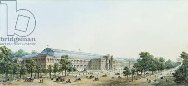 Perspective View of the Palais de l'Industrie, 1854 (w/c on paper)