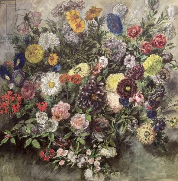 Bouquet of Flowers (w/c, gouache & pastel on paper)