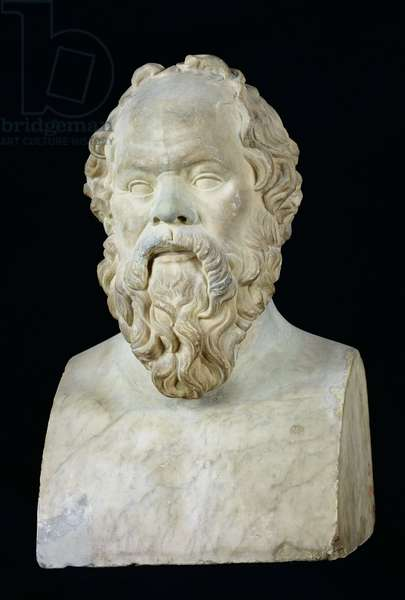 Bust of Socrates (470-399 BC) (marble)