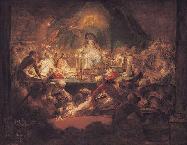 The Monkey Freemasons (oil on canvas)