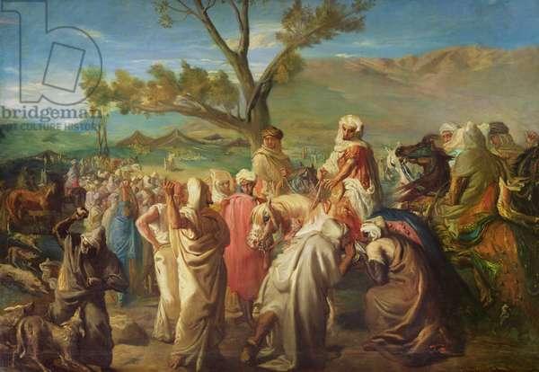Caid visiting a Douar, 1849, (oil on canvas)
