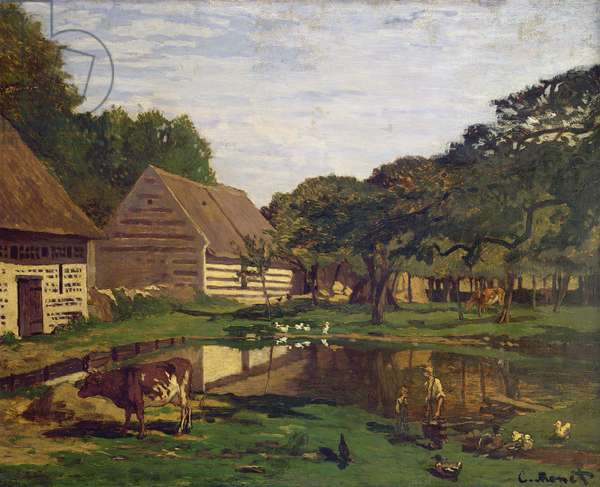 A Farmyard in Normandy, c.1863 (oil on canvas)