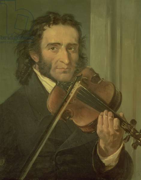 Portrait of Niccolo Paganini (1782-1840) (oil on canvas)