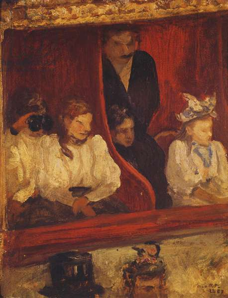 Box at the Opera-Comique, 1887 (oil on panel)