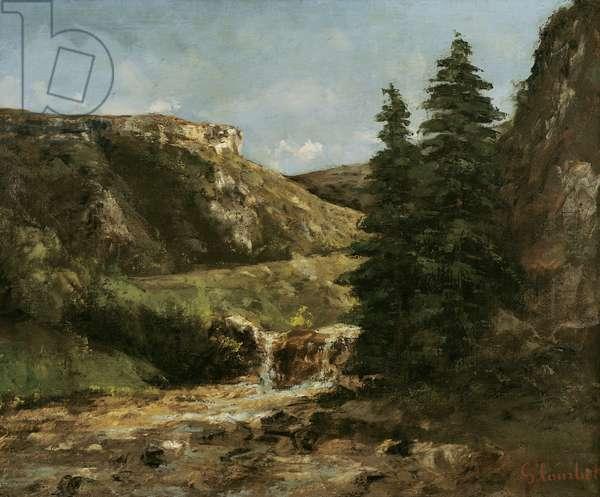 Landscape near Ornans, c.1858 (oil on canvas)