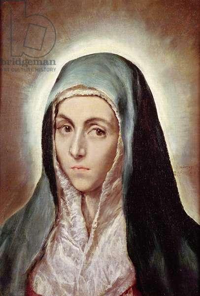 The Virgin Mary, 1595-1600 (oil on canvas)