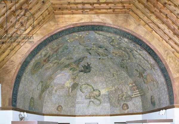 View of the vault depicting the 'Cielo de Salamanca', c.1480-90 (fresco)
