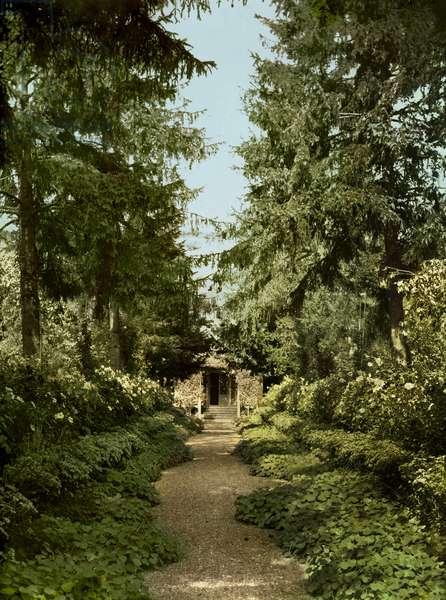 Garden path in the garden of Claude Monet, Giverny (photo)