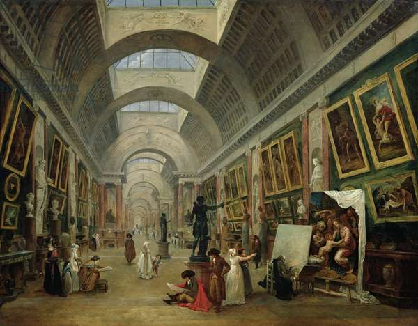 View of the Grand Gallery of the Louvre, 1796 (oil on canvas)