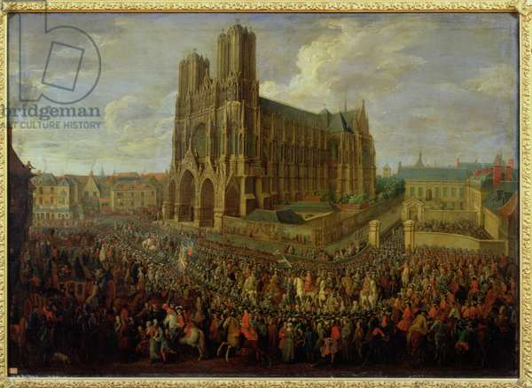 The procession of King Louis XV (1710-74) after his coronation, 26th October 1722, 1724 (oil on canvas)