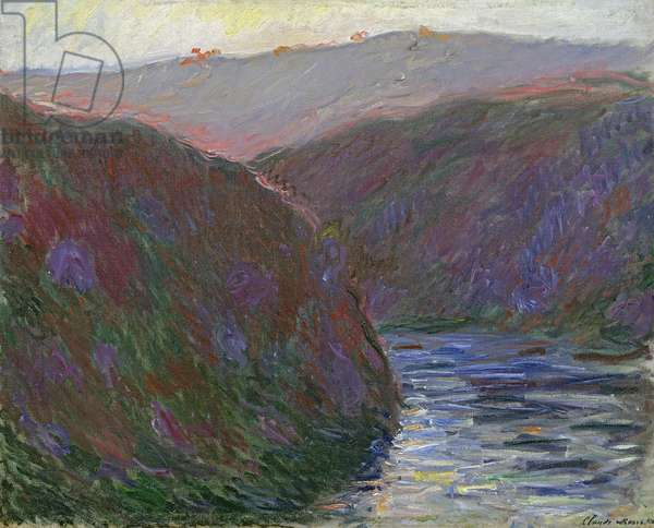 The Creuse Valley, Evening Effect, 1889 (oil on canvas)