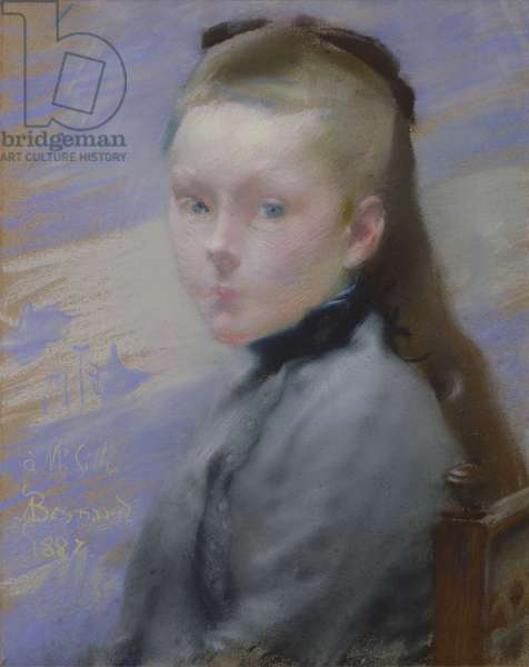 Portrait of the artist's daughter (oil on canvas)