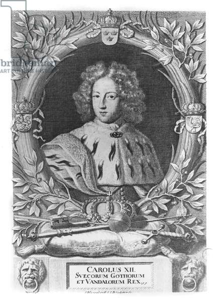Charles XII, King of Sweden, 1693 (engraving)