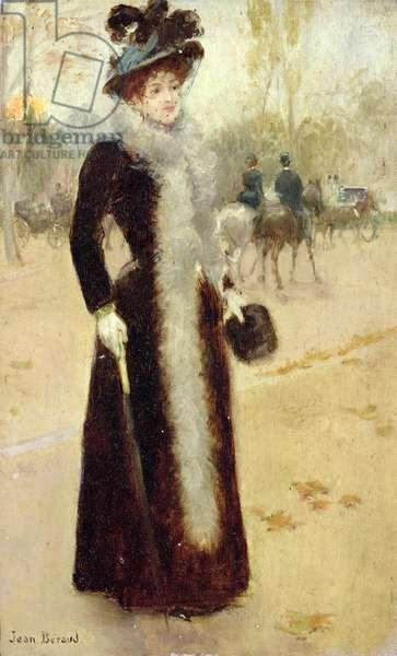 A Parisian Woman in the Bois de Boulogne, c.1899 (oil on canvas)