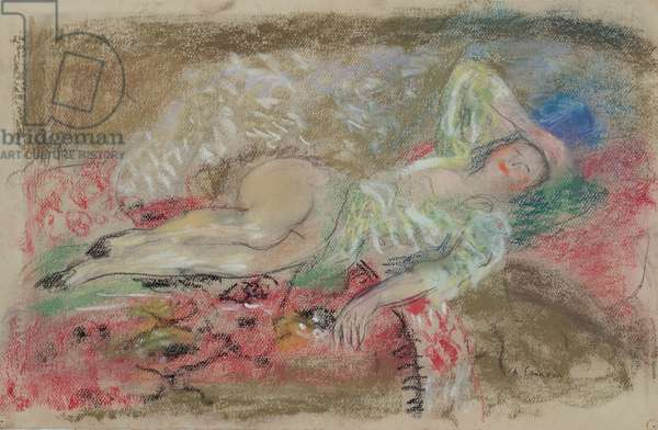 Woman Listening (pastel on paper)