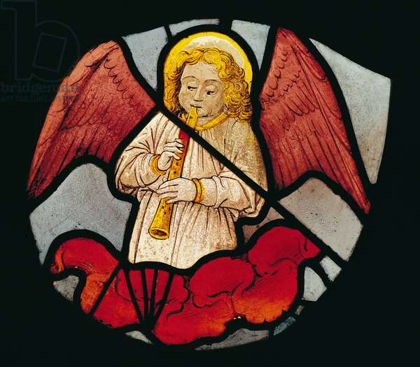 Musical Angel (stained glass)