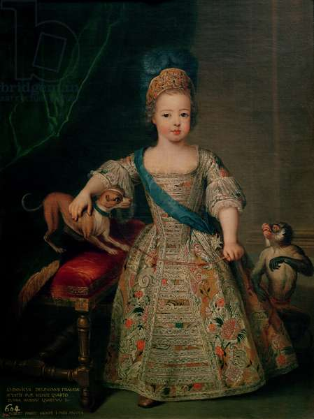 Louis XV (1710-74) as a child, 1714 (oil on canvas)