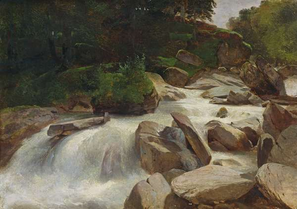 River Study, c.1846-50 (oil on canvas)