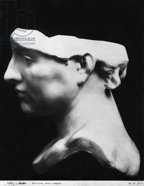 Minerva without helmet, 1896 (marble) (see also 414549)
