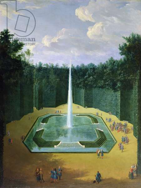 View of the Fountain Obelisk in the Gardens of Versailles (Louis XIV promenade)