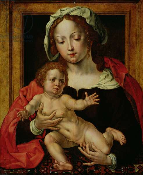 Virgin and Child (oil on panel)