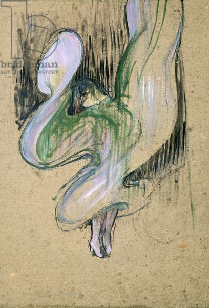 Study for Loie Fuller (1862-1928) at the Folies-Bergere, 1893 (oil on cardboard)