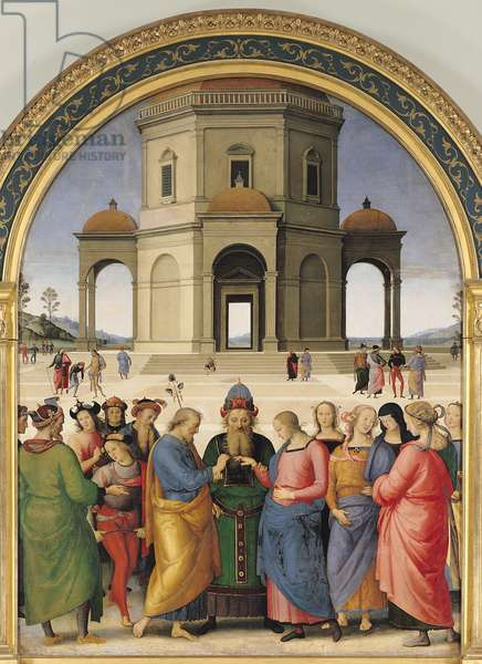 The Marriage of the Virgin, 1500-04 (oil on panel)