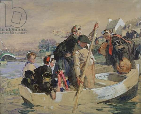 Breton scene (gouache on paper)