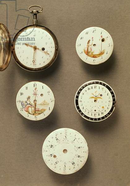 Pocket watches (metal & enamel)