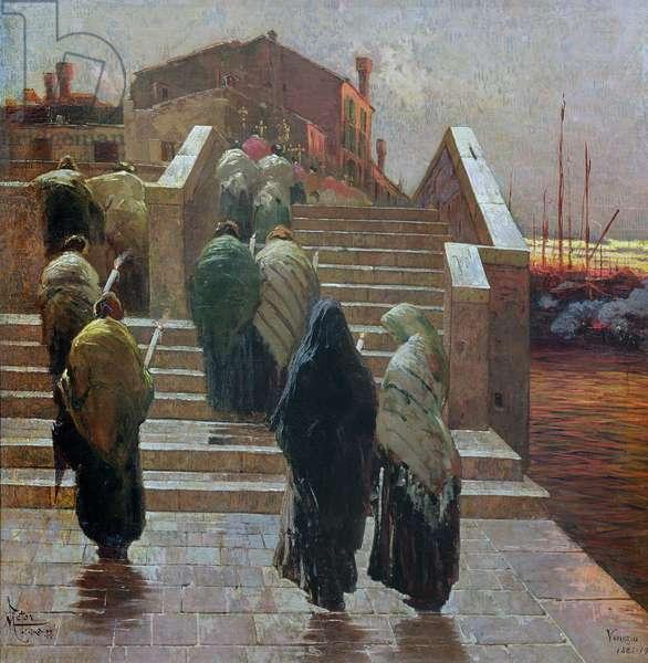 Rouge du Soir, by Beau Temps Espoir, 1882-1902 (oil on canvas)
