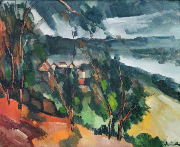 Banks of the River, 1909 (oil on canvas)