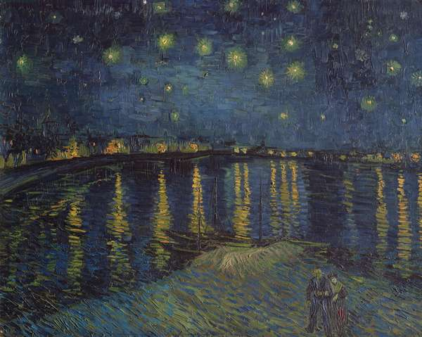 Starry Night over the Rhone, 1888 (oil on canvas)