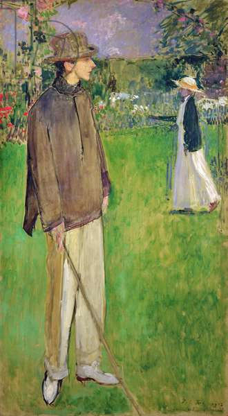 Study for a Full Length Portrait of Jean Cocteau (1889-1963) at Offranville, 1912 (oil on canvas)