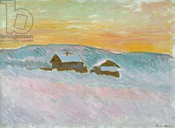 Norwegian Landscape, Blue Houses, 1895 (oil on canvas)