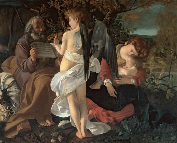Rest on the Flight into Egypt, c.1603 (oil on canvas)