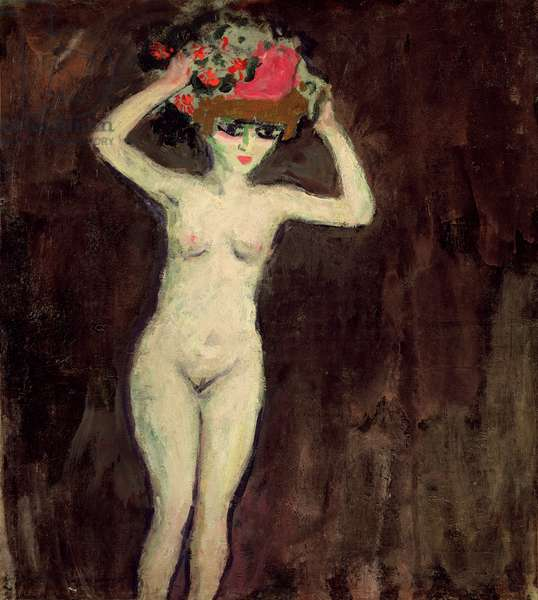 Nude with a Basket of Flowers, c.1908 (oil on canvas)
