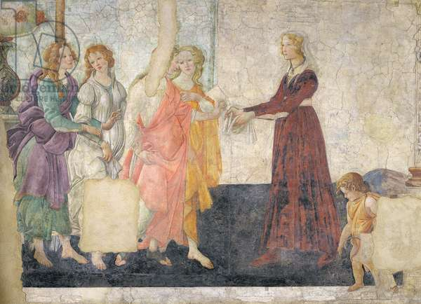 Venus and the Graces offering gifts to a young girl, 1486 (fresco) (for detail see 315895)