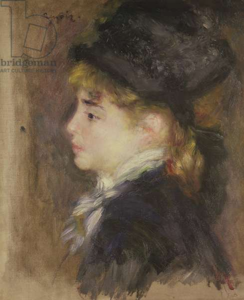 Portrait of a woman, possibly Margot, c.1876-78 (oil on canvas)