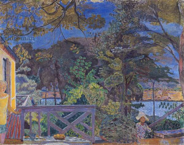 The Terrace at Vernon, 1928 (oil on canvas)