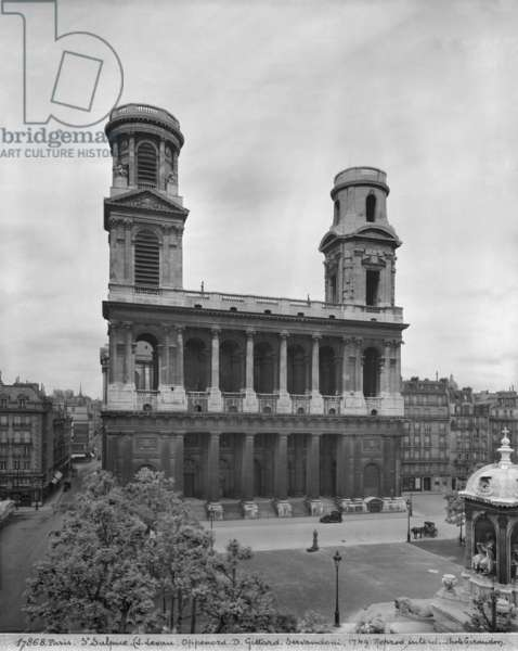 View of the church of Saint-Sulpice, 1921-22 (see also 346071) (b/w photo)