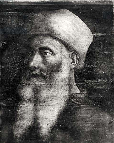 Five Masters of the Florentine Renaissance, detail of Paolo Uccello (1397-1475) (tempera on panel) (b/w photo)
