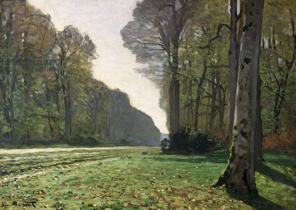 The Road to Bas-Breau, Fontainebleau (Le Pave de Chailly), c.1865 (oil on canvas)