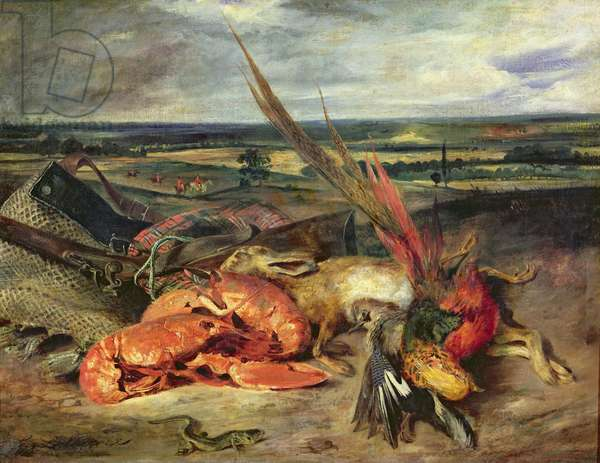 Still Life with Lobsters, 1826-27 (oil on canvas)