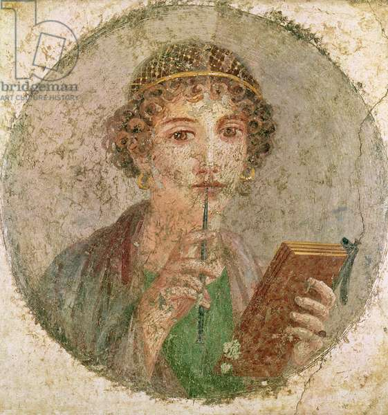 Portrait of a young girl, from Pompeii (fresco)