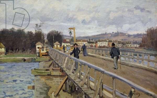 Footbridge at Argenteuil, 1872 (oil on canvas)