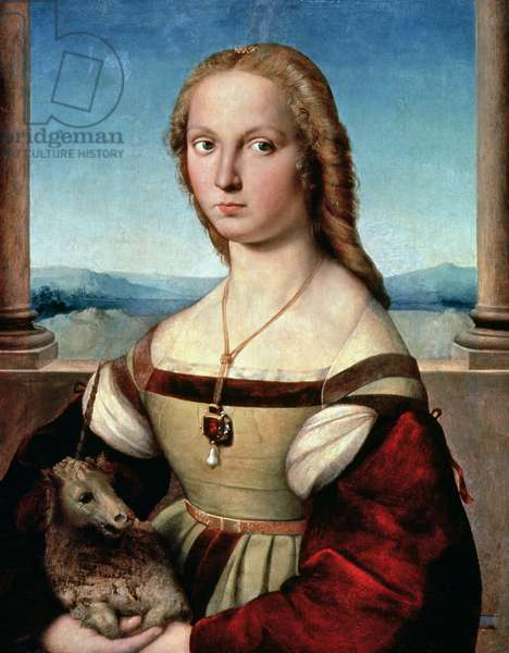 Portrait of a Lady with a Unicorn, c.1505-6 (oil on panel)