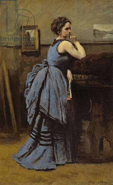 The Woman in Blue, 1874 (oil on canvas)