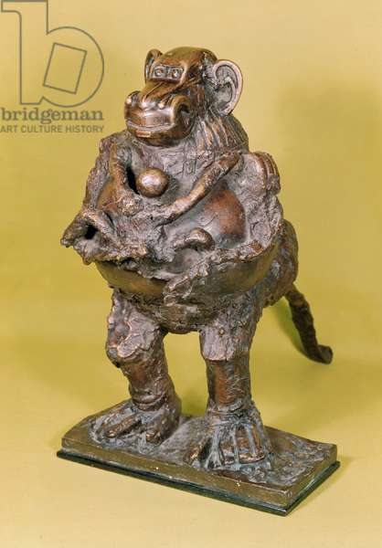 Monkey and her Baby, 1952 (bronze)