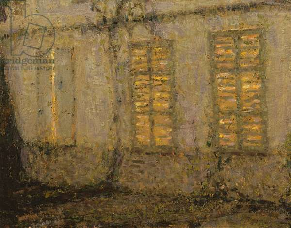 Closed shutters, moonlight, Gerberoy, c.1932 (oil on canvas)